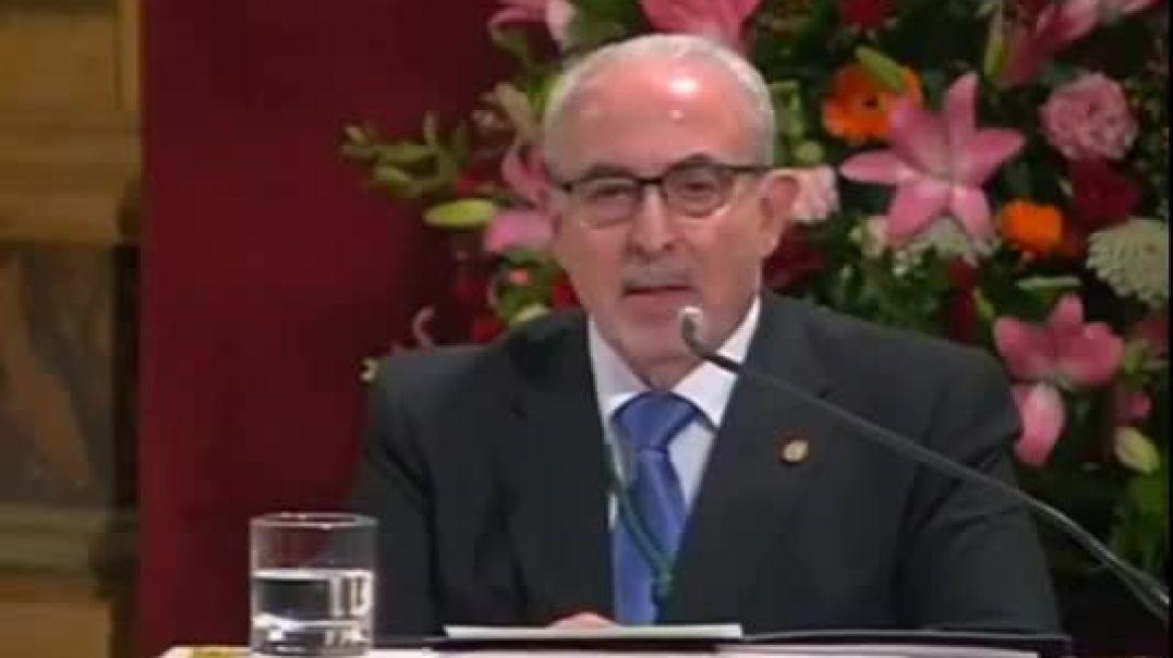 El presidente de la Universidad Católica de Murcia dice que Bill Gates es un esclavo de Satanás(360P
