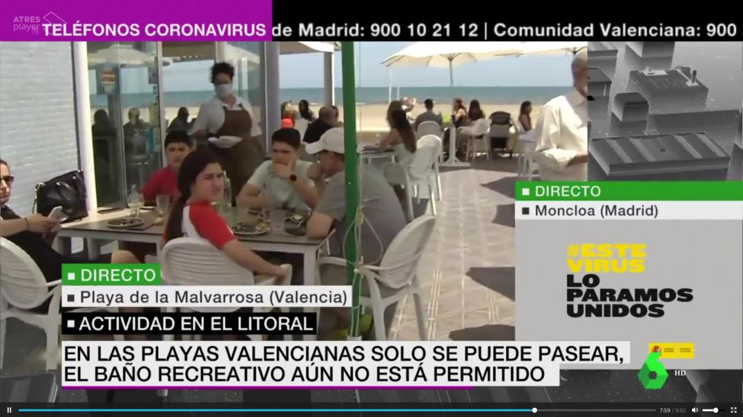 En los bares de España no hay virus  ¿en los colegios si?
