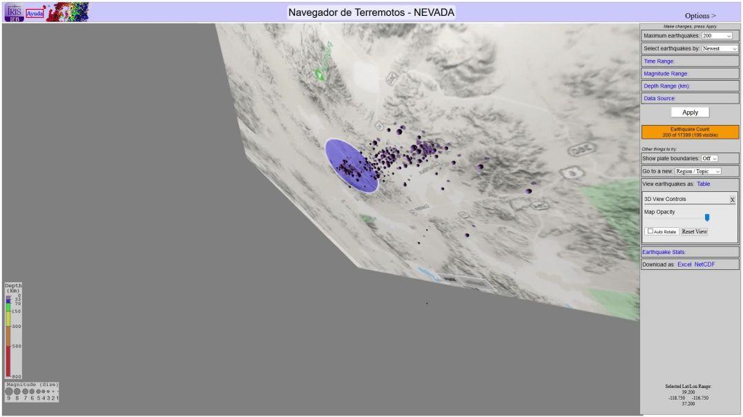 NEVADA 5000 terremotos 20-05-2020