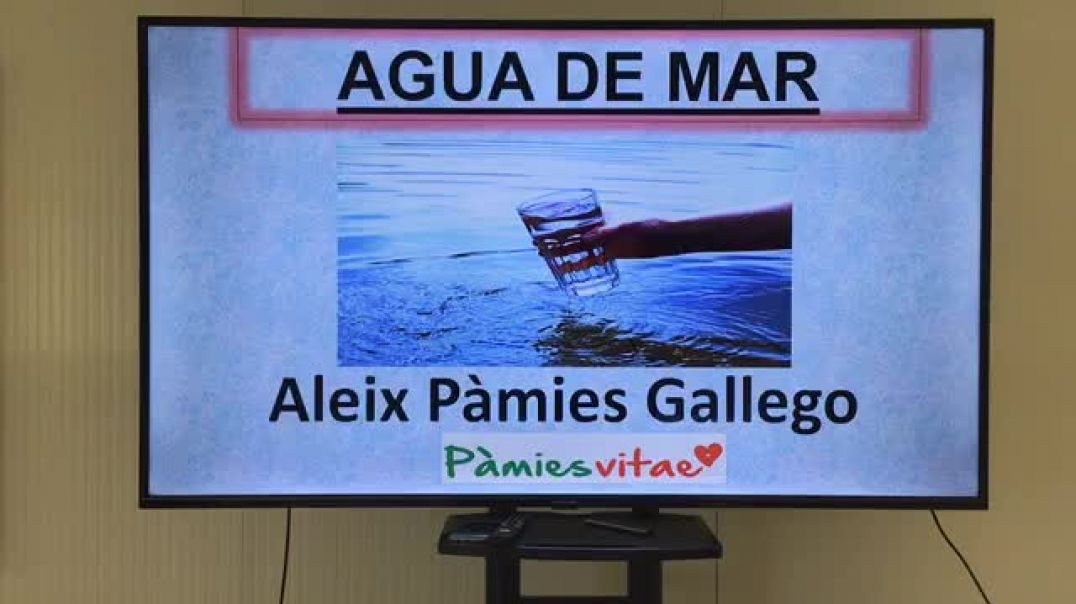 Aleix Pàmies:  Conferencia Agua de Mar el 13.6.2020