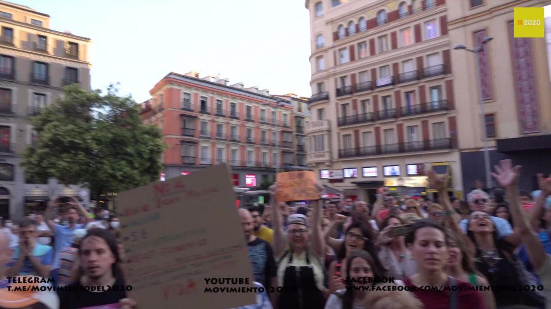 EL PUEBLO HABLA... PLAZA DEL CALLAO, MADRID, 20 DE JUNIO DEL 2020.