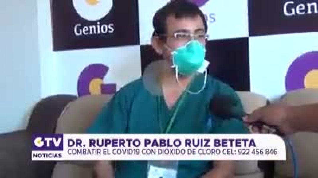Dr. Ruperto, difunde beneficios del dióxido de cloro contra el covid-19