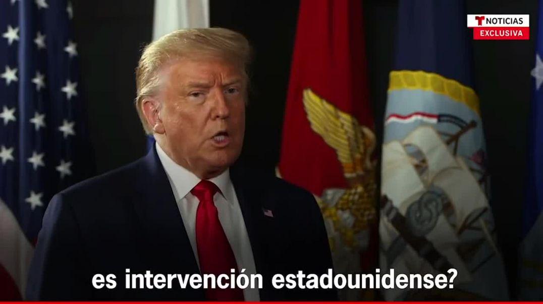Trump sobre Venezuela. Algo va a pasar, apoyaré al pueblo de Venezuela.