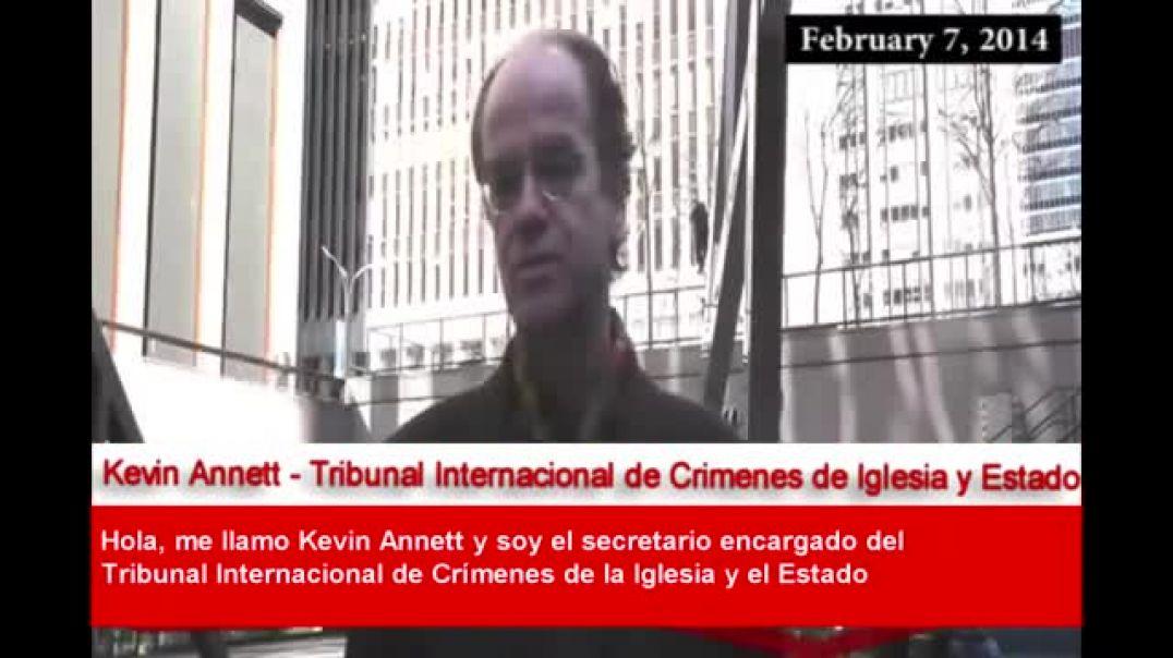 Kevin Annett denuncia al Papa Francisco y a la Reina Isabel (07 02 2014)
