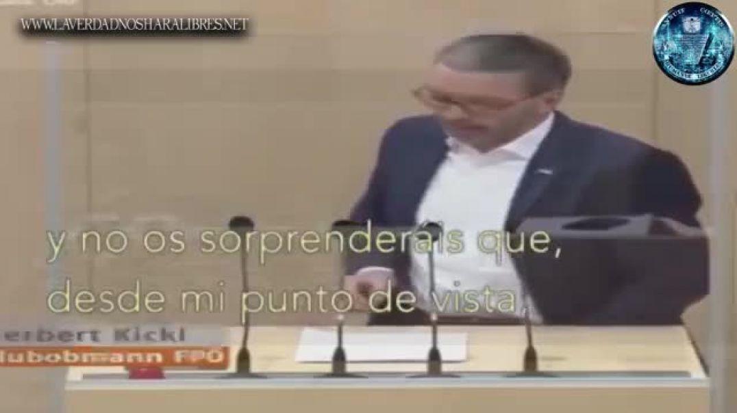 MINISTRO AUSTRIACO SE ENFRENTA AL NUEVO ORDEN MUNDIAL Y LA FALSA PANDEMIA