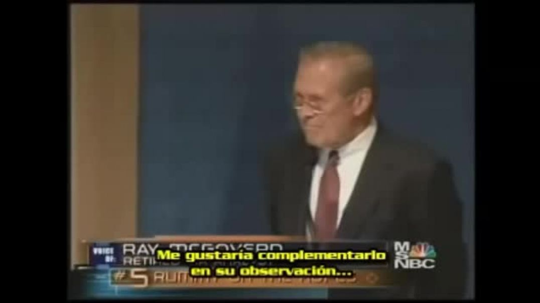 Ray McGovern Confronta a Donald Rumsfeld (2006)