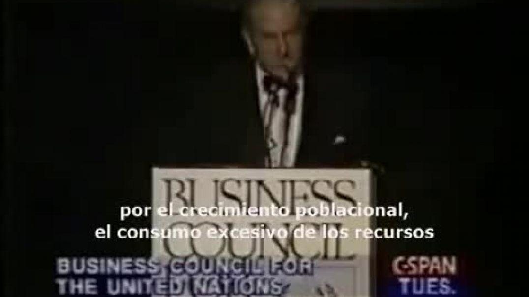 David Rockefeller 'La ONU debe regular nuestra población mundial'[1]