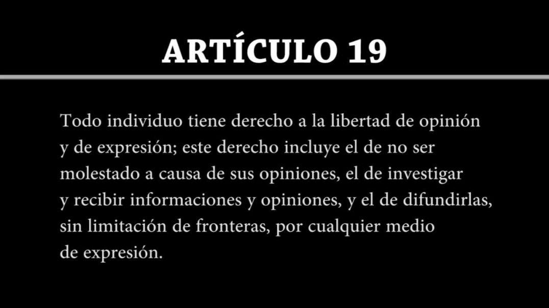 Art19 de la Declaración Universal de Derechos Humanos !|! No me deja YouTube Na.