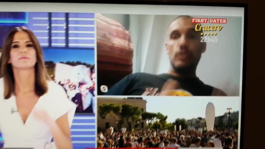 La CUATRO TV, entrevista a Fernando, sobre manifestación de Madrid