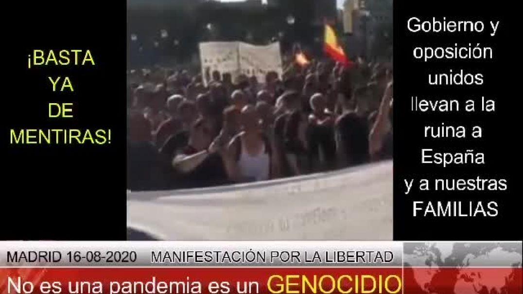 Madrid , manifestación multitudinaria por la verdad. 16 Agosto 2020