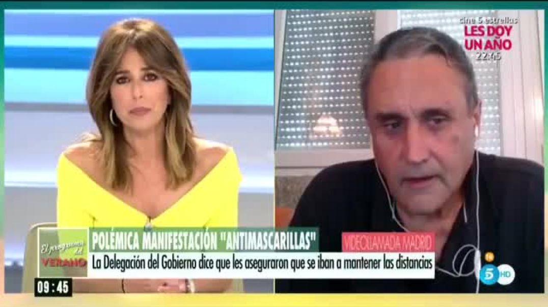 Declaraciones de un periodista en tele 5, sobre la fake pandemia