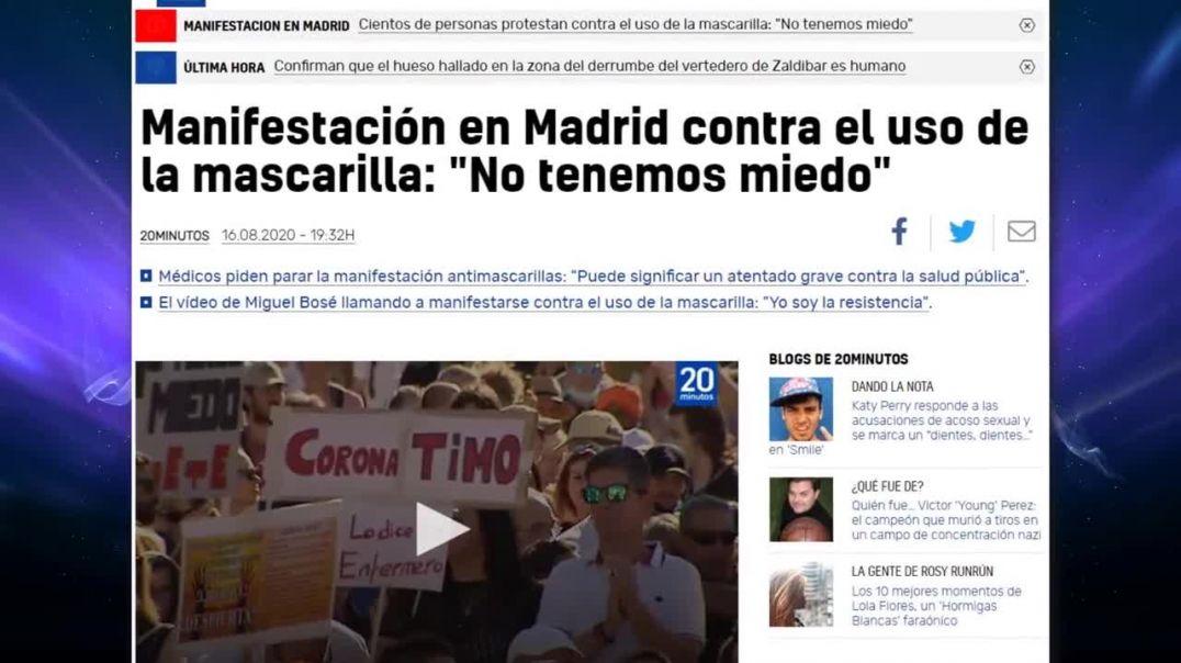 Miles de personas PROTESTAN en Madrid contra las medidas del gobierno