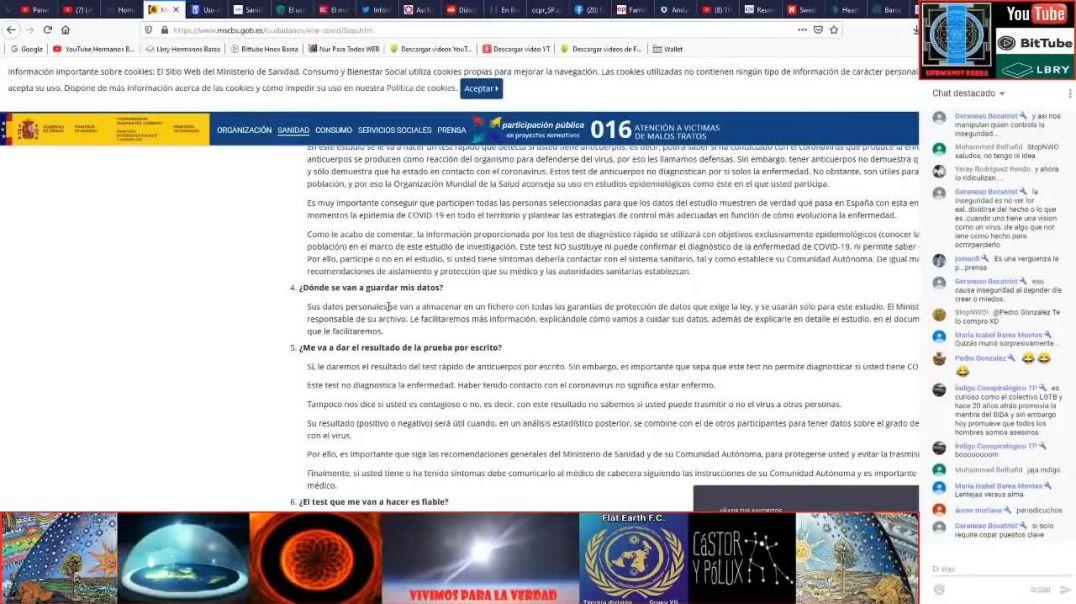EL Ministerio de Sanidad reconoce que las pruebas no sirven para detectar Covid19.
