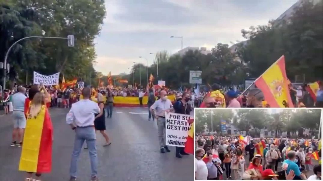 100.000 manifestantes para exigir la dimisión del gobierno.