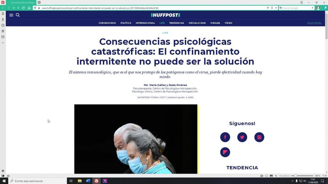 Las consecuencias psicológicas del confinamiento (Huffington Post)