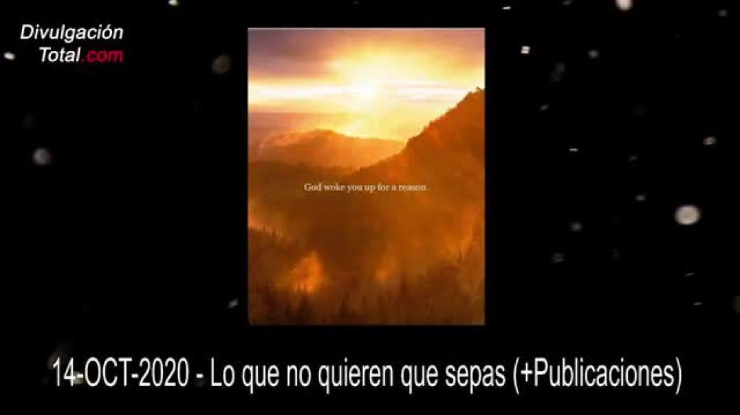 TRUMP & QANON 14-OCT-2020 - LOS CAZADORES ESTÁN SIENDO CAZADOS