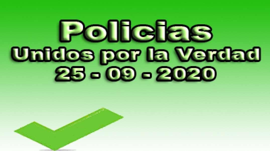 Policias unidos por la verdad, 25-09-2020