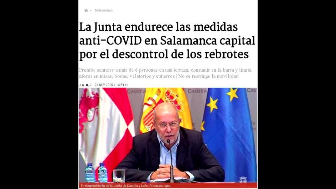 Nuevo recorte de libertades en Salamanca basado en cifras injustificadas (septiembre de 2020)