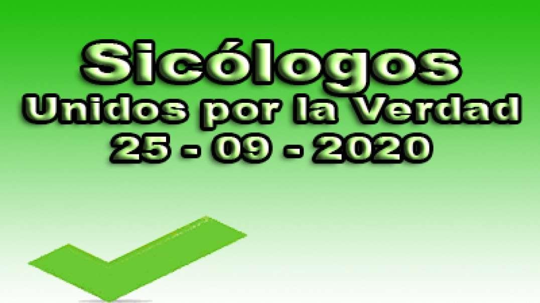 Sicólogos unidos por la verdad, 25-09-2020