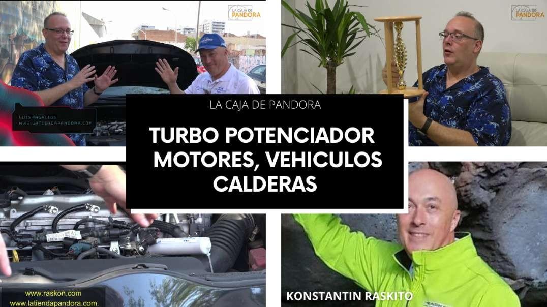 TURBO POTENCIADOR PARA MOTORES DE VEHICULO