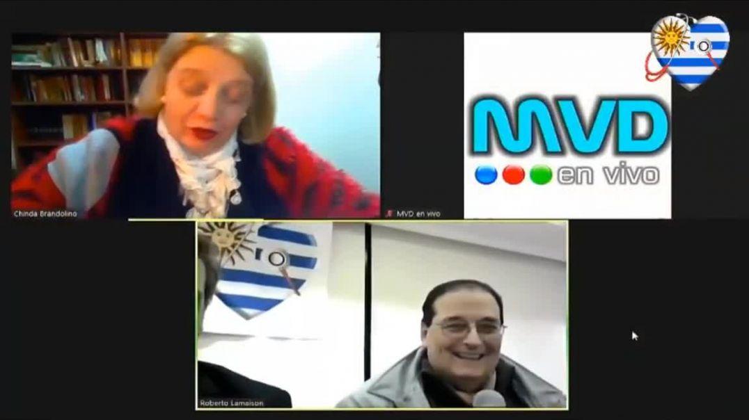 Chinda Brandolino con Médicos por la Verdad Uruguay 1-9-2020