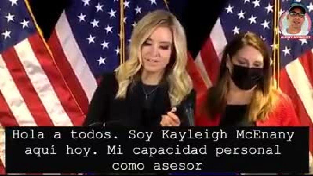 Rueda de prensa de Kayleigh Mc Enany, Casa Blanca.