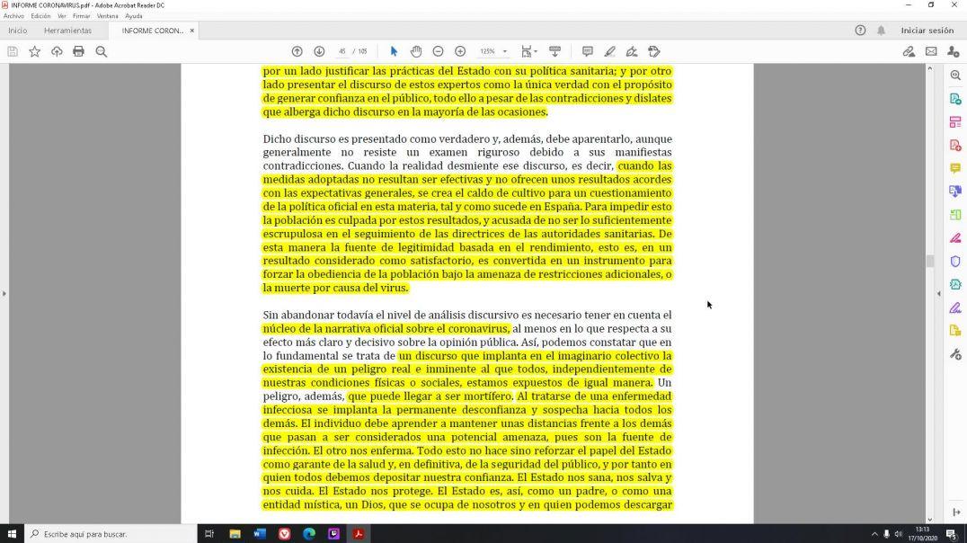 La manipulación por parte del Estado español a través del miedo