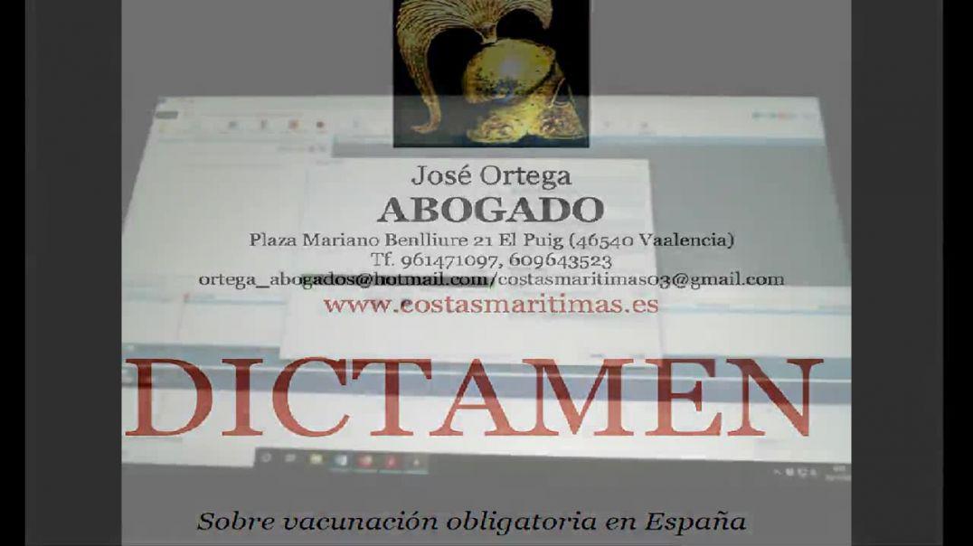 Dictamen vacuna obligatoria Codid 19 por  Jose Ortega Ortega abogado
