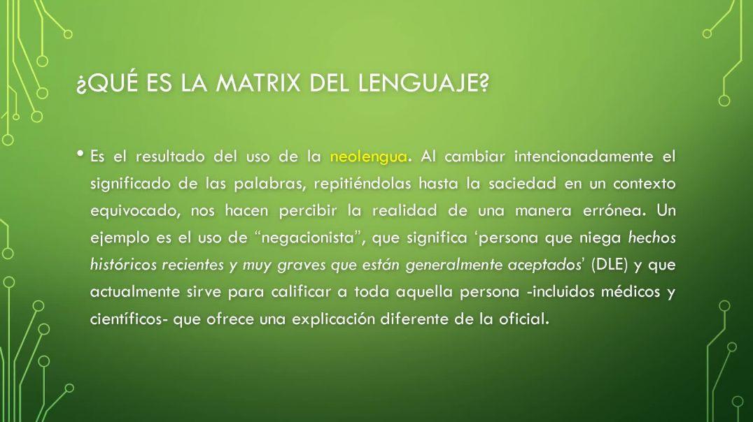 Cómo salir de la matrix del lenguaje