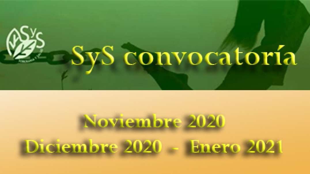 Nuevas convocatoris SyS - noviembre 2020 - diciembre 2020 - enero 2021.