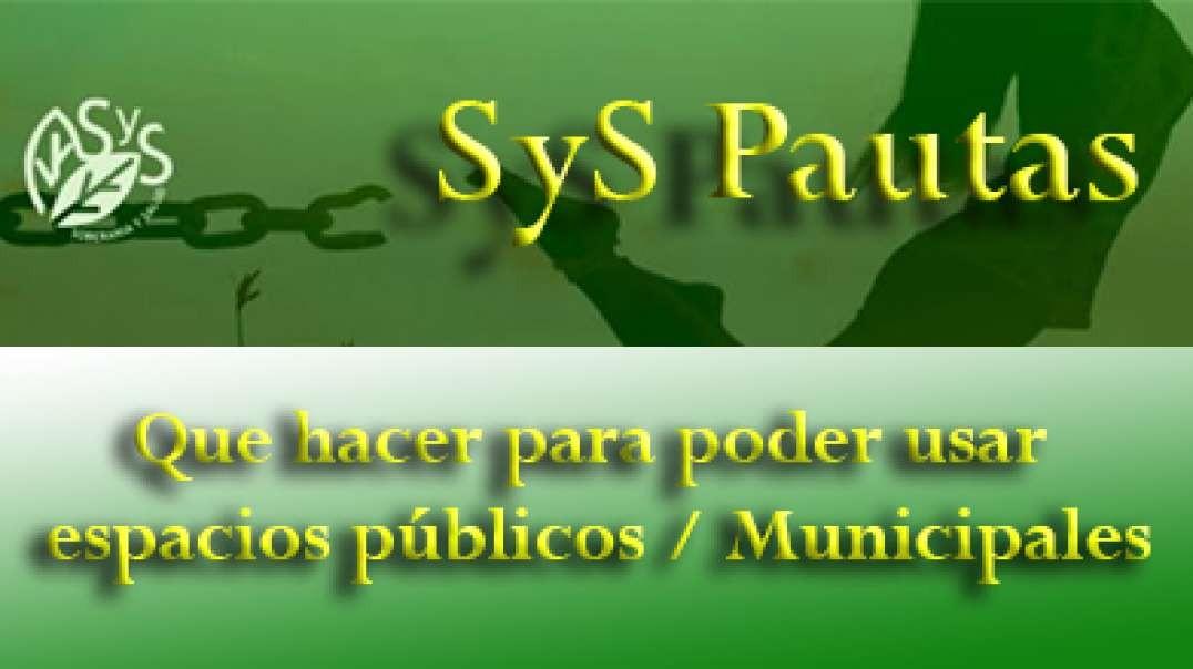 SyS Pautas - Que hacer para poder usar espacios públicos - Municipales