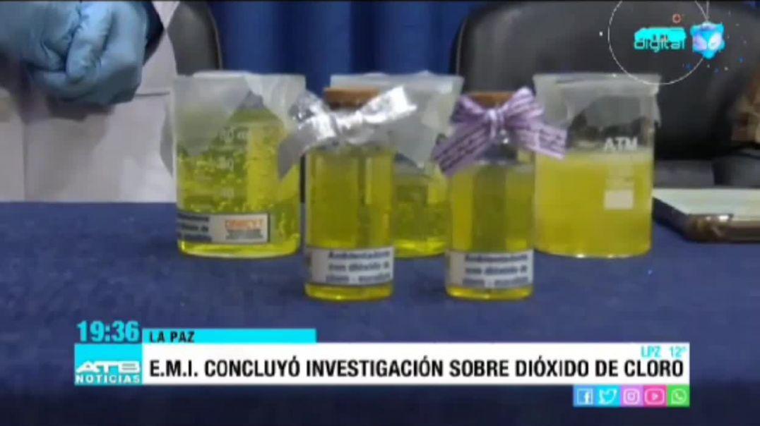 Escuela militar de ingeniería aprueba el uso del dióxido de cloro (Bolivia).