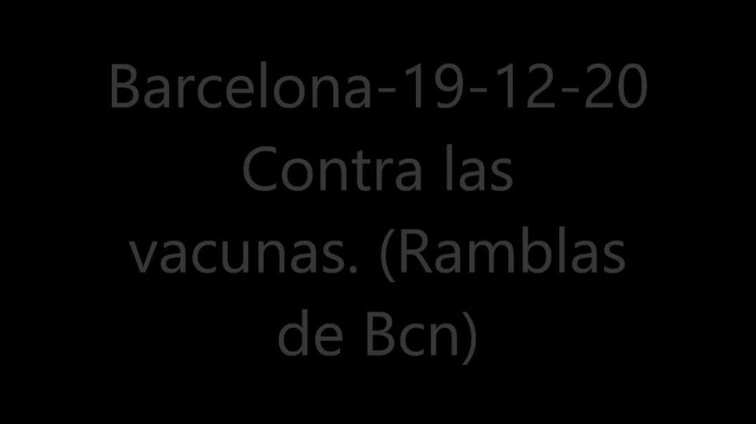 (Manifestación obra de teatro) Contra la vacuna-Barcelona-20-12-2020