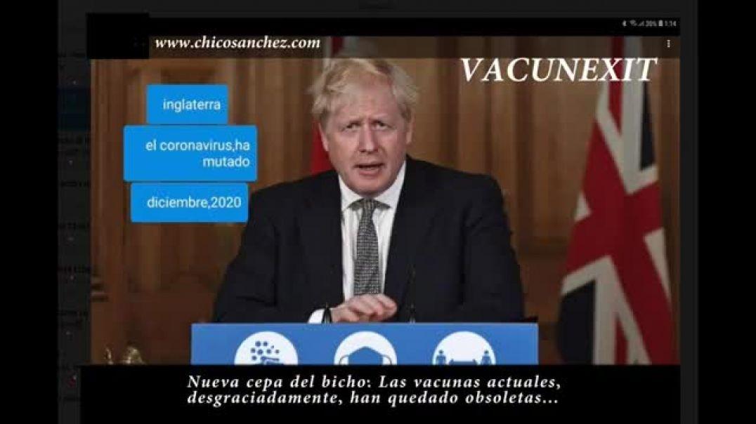 Vacunexit: Nueva cepa del bicho, desgraciadamente, las vacunas quedan obsoletas.