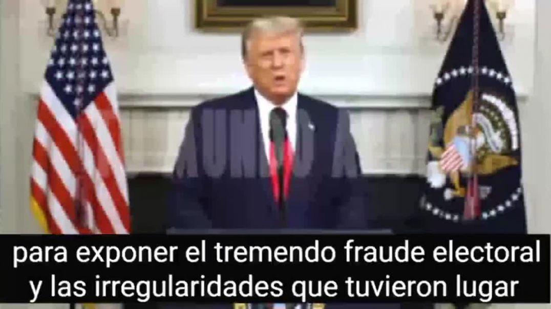 El discurso mas importante de D.Trump. Expone todo el fraude.