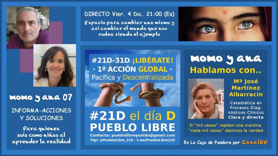 momo y ana 07 ·conversación con la Dra. Maria José Martínez Albarracín
