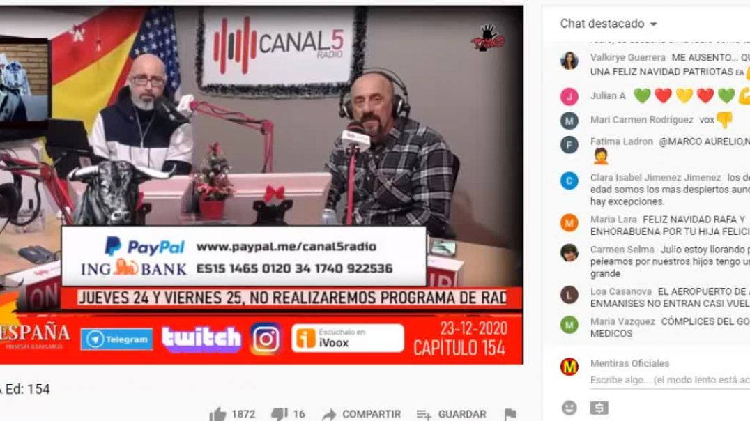 23_12_2020 Nochebuena en Canal 5 Radio