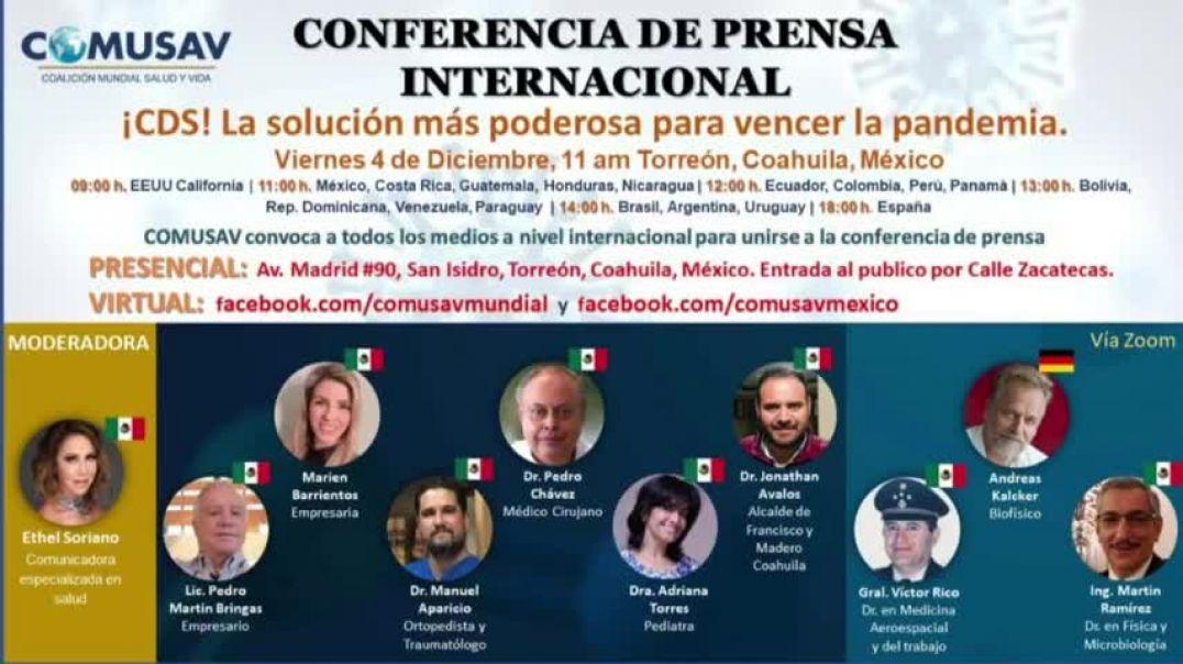 Conferencia de Prensa Internacional COMUSAV