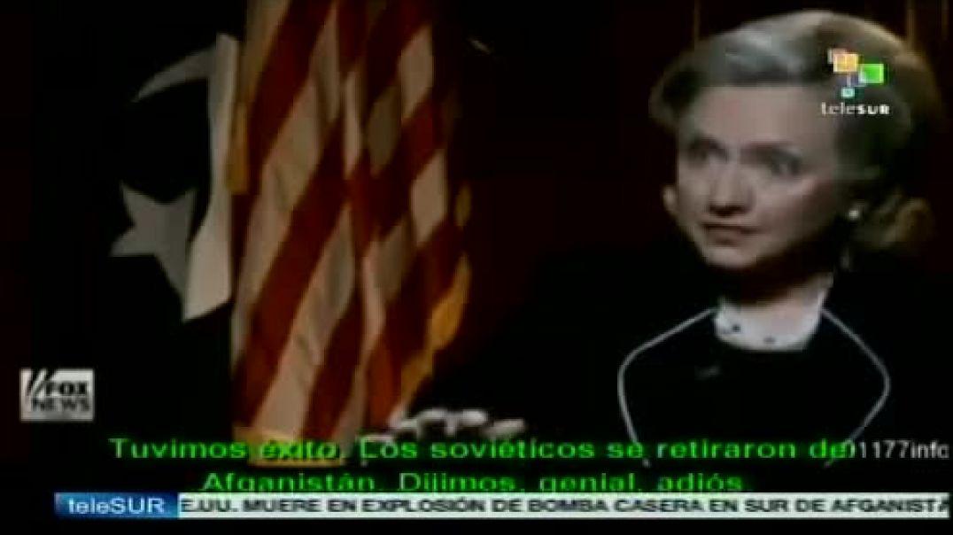 KILLARY CLINTON RECONOCE ORGULLOSA EN UNA ENTREVISTA QUE EEUU CREO AL QAEDA