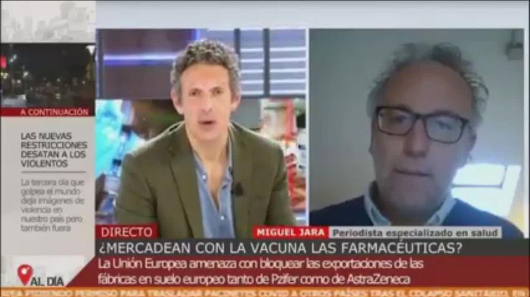 EN TELEVISIÓN SE HABLA DE OSCUROS INTERESES DE CORPORACIONES FARMACÉUTICAS