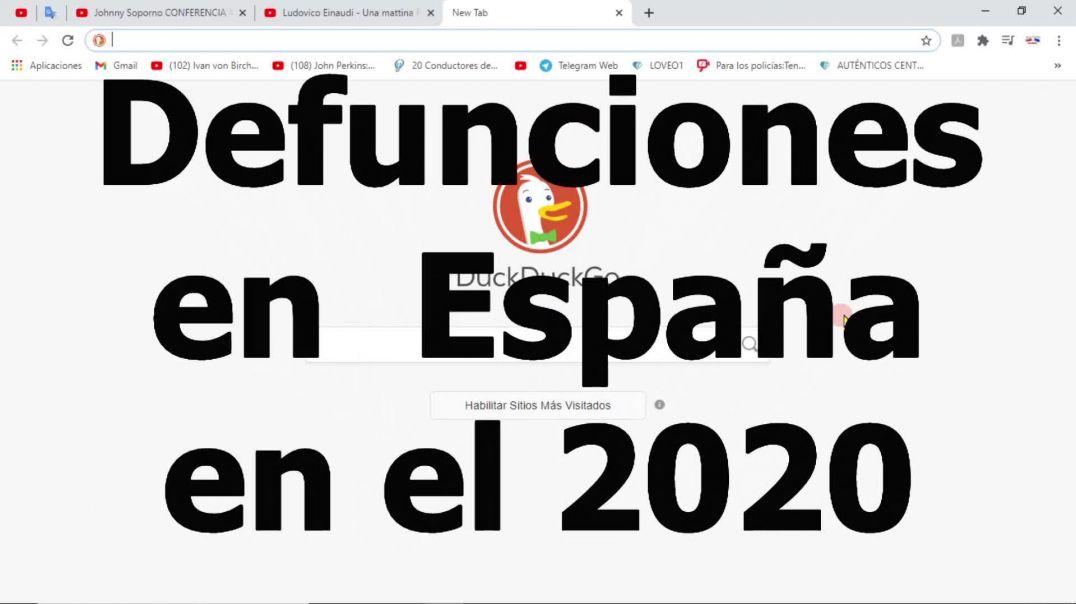 DEFUNCIONES DEL AÑO 2020, ¿DÓNDE ESTA LA PANDEMIA?