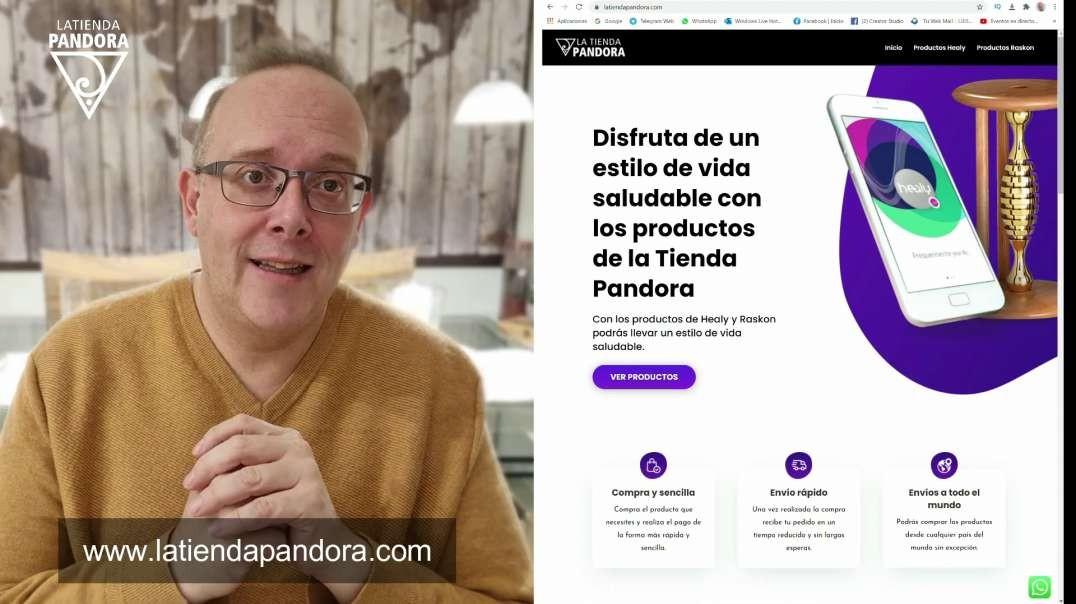 ESTRENO DE LA NUEVA WEB LA TIENDA PANDORA Y COMUNICACIÓN DEL RESTO DE PLATAFORMAS
