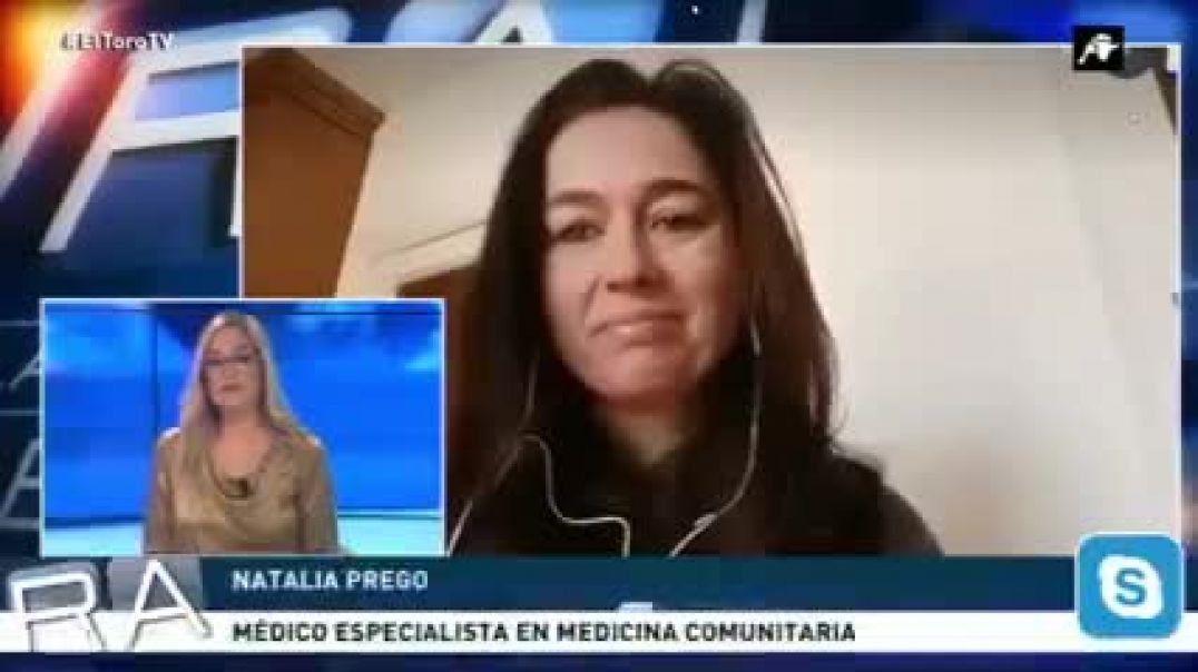 "Dra. Natalia Prego: advertencias serias sobre la ""vacuna"". En TV."