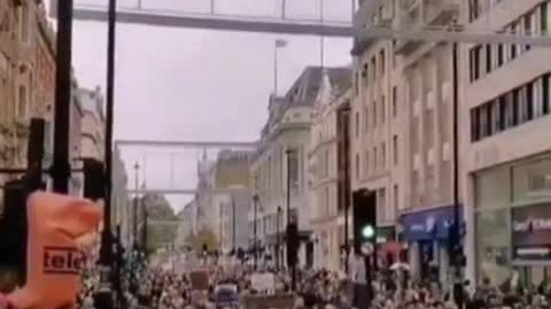 Manifestación en Londres al grito de Libertad.