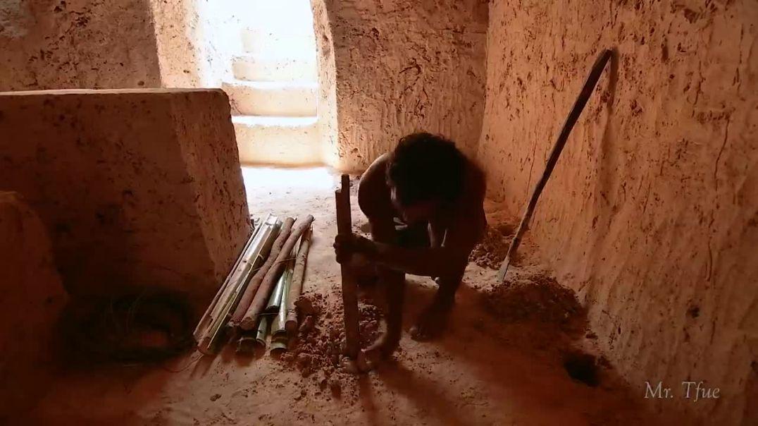 Construyen una casa subterránea con túnel a un templo con piscinas
