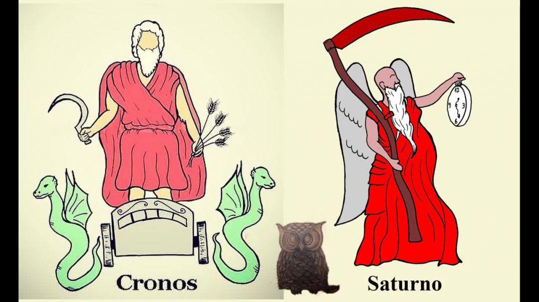 El dios Saturno y los simbolos de la serpiente.