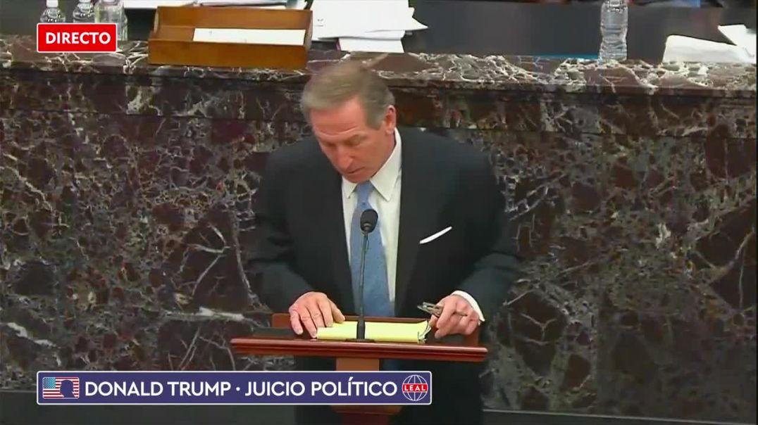 El abogado de Donald Trump se come con patatas a la acusación del Juicio Político.