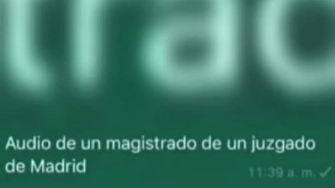 ⛔Audio de un Magistrado de un Juzgado de Madrid