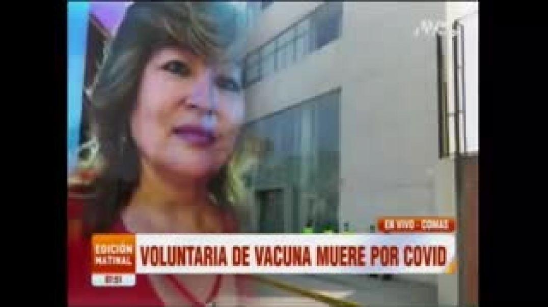 """VOLUNTARIA SANA MUERE POR C O V I D DESPUES DE DOS DOSIS DE LA """"VACUNA""""."""