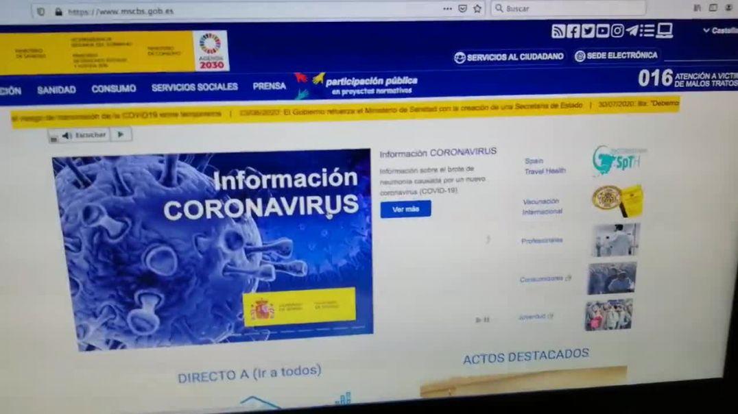 Ministerio de sanidad español- preguntas y respuestas sobre test[via torchbrowser